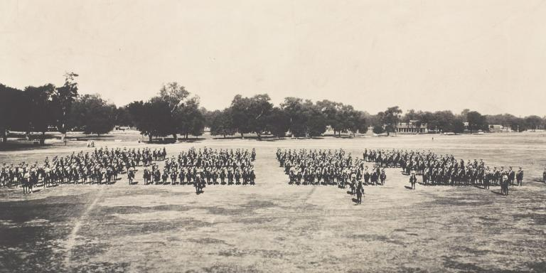 Last mounted parade of the 14th/20th King's Hussars, Lucknow, 1938