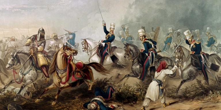 Charge of the 3rd King's Own Light Dragoons at Chilianwala, 1849