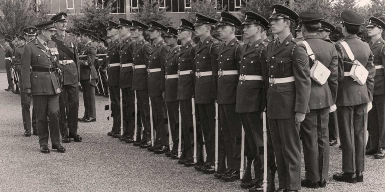 Royal Army Pay Corps' troops on parade, 1978