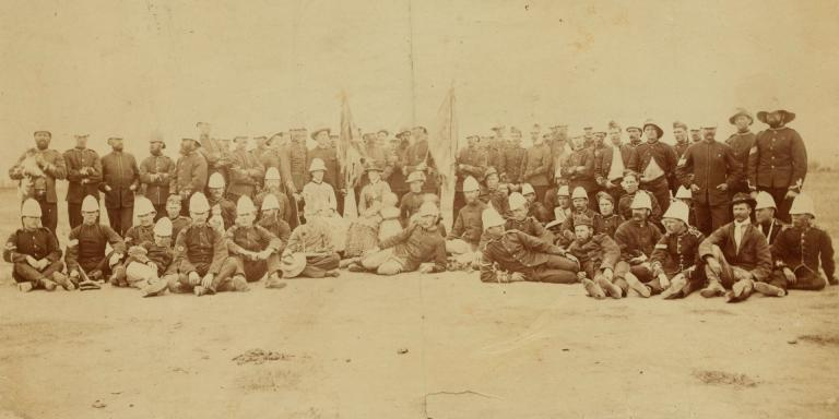 Released prisoners of the 94th Regiment from Bronkhorst Spruit, Pretoria, 1881