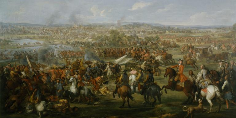 Cavalry charge at the Battle of Blenheim