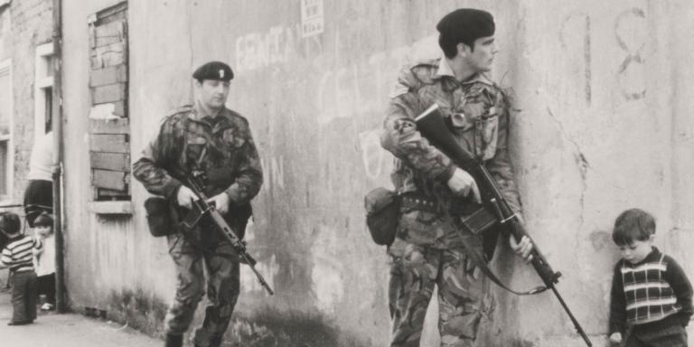 On patrol in Belfast, c1973