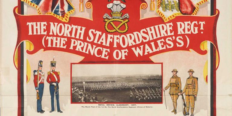 Recruiting poster for the North Staffordshire Regiment, c1925
