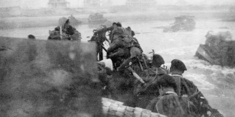 British troops landing at Sword Beach, 6 June 1944