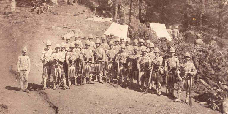 Members of The Seaforth Highlanders (Ross-shire Buffs, The Duke of Albany's), Hazara Expedition, 1888