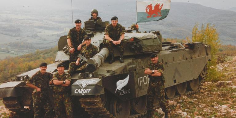 A Challenger tank of 1st The Queen's Dragoon Guards, Bosnia, 1996
