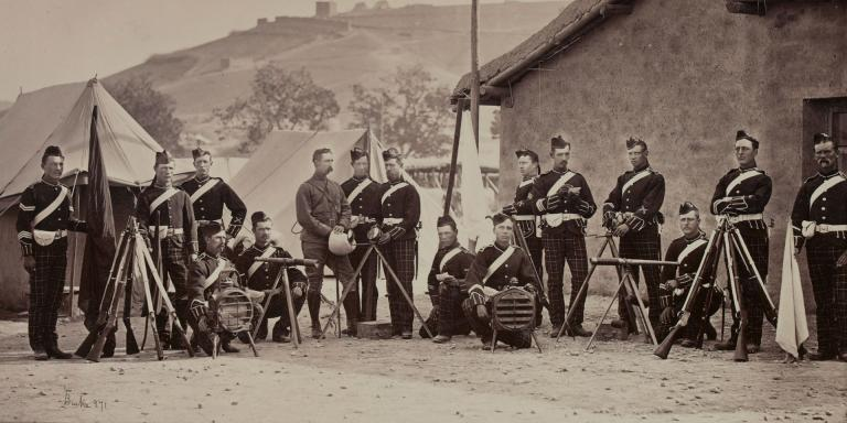 Signallers of the 72nd (Duke of Albany's Own Highlanders) Regiment in Afghanistan, 1879