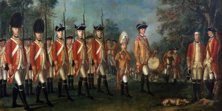 Members of the 25th Regiment of Foot on Menorca, c1771