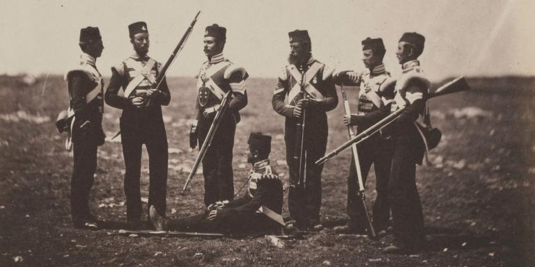 Men of the 68th (Durham) Regiment of Foot (Light Infantry) in the Crimea, 1855