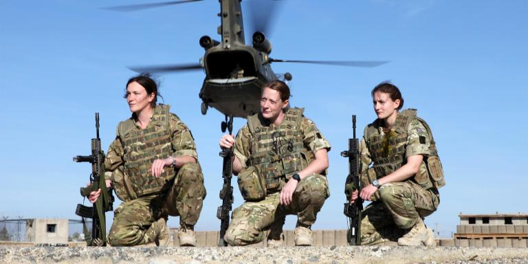 Female soldiers of 2nd Battalion The Royal Highland Fusiliers, Royal Regiment of Scotland, Helmand Province, 2011