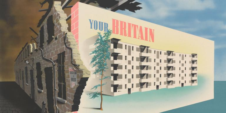 Abram Games poster, 'Your Britain. Fight for It Now', 1942