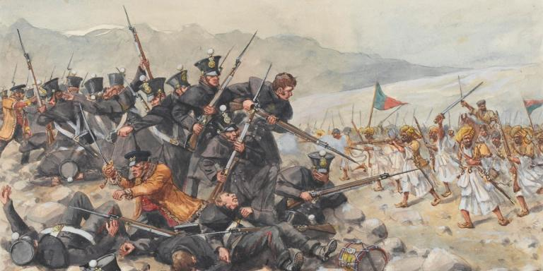 The last stand of the 44th (East Essex) Regiment at Gandamak, 1842