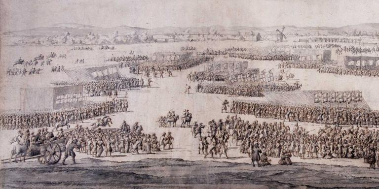 The Grand Review of the Army on Hounslow Heath, 1687