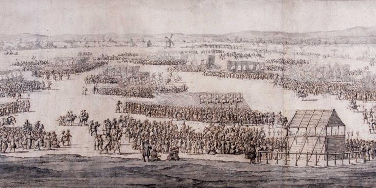 A Grand Review of the Army on Hounslow Heath, 1687