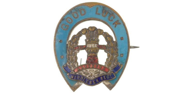 Sweetheart brooch of the Duke of Cambridge's Own (Middlesex Regiment), c1918