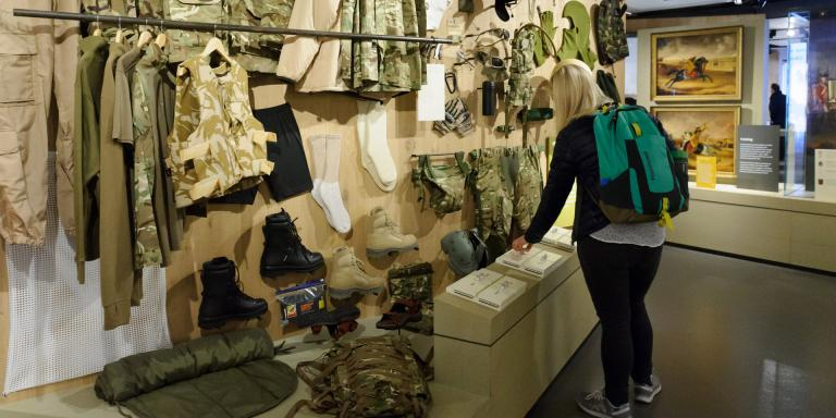 Kit wall in Soldier gallery