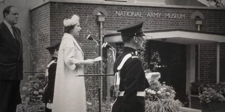 HM The Queen opening the National Army Museum at Sandhurst, July 1960