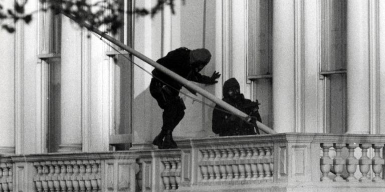 SAS troops storming the Iranian Embassy, 5 May 1980
