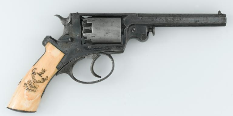 Adams .476 inch percussion revolver used by Lieutenant Charles Webber, Royal Engineers, c1858