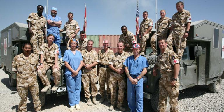 Medical staff at Camp Bastion, c2008
