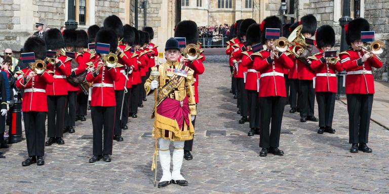 The Band of the Coldstream Guards at Windsor Castle, 2016