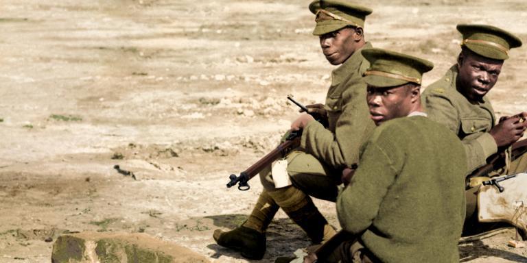 Soldiers of the British West Indies Regiment, c1916